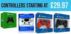 Xbox One Controller £29.97 and White/Blue/Black/Red PS4 Controller £39.97 @ Gamestop