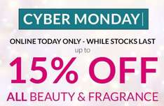 Debenhams Online Cyber Monday Up to 15% Perfume & Beauty - brands including Chanel, Estee Lauder, YSL, Lancome, Clarins, Clinique (10% off MAC Cosmetics)