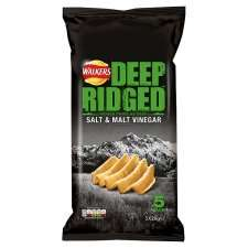 FarmFoods selling walkers deep ridged salt and vinegar crisps pack of 5 (2 packs for £1