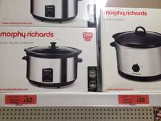 Morphy Richards oval slow cooker £12 @ Sainsbury's In store