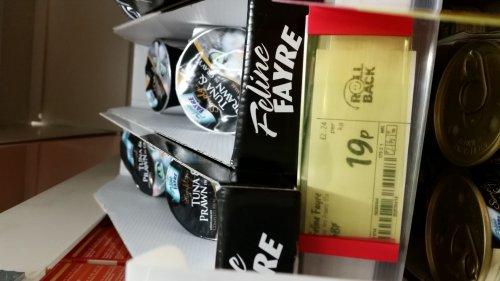 Feline Fayre Tuna & Prawn Cat Food 19p ASDA in store