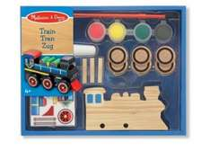 melissa and doug paint your own wooden train £3.99 @ Amazon  (free delivery £10 spend/prime)