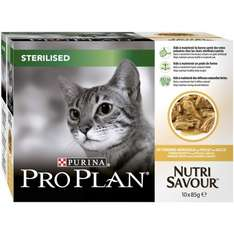 PRO PLAN Cat Wet NutriSavour Sterilised with Chicken in Gravy 10x85g (Pack of 4, Total 40 Pouches) £7.49 @  amazon