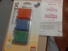 LEGO Nintendo DS Game Case x3 @ GAME for 99p