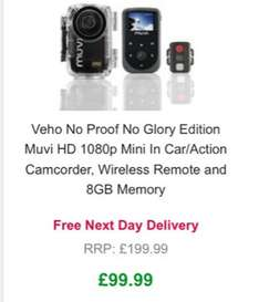 £99.99 Veho NPNG Edition Muvi HD 1080p Action Camcorder, Wireless Remote and 8GB Memory @ Zavvi