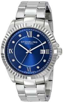 Stuhrling Original Regent Nautic Men's Quartz Watch with Blue Dial Analogue Display and Silver Stainless Steel Bracelet 399G.33116 £23.05 @ Amazon