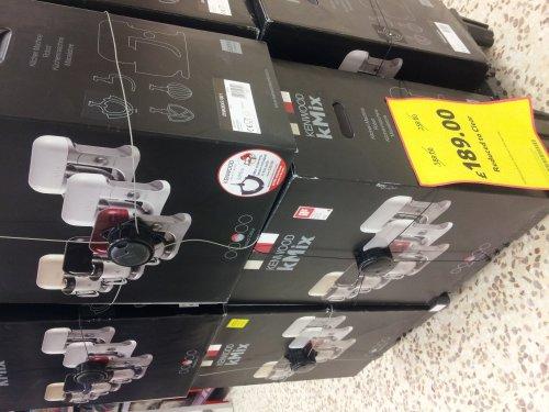 kmix mixer £189.99 in tesco stevenage