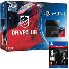 PS4 with TLOU (download), Driveclub, GTA V and Shadow of Mordor £364.98 @ Game