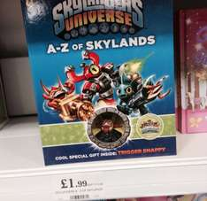 A to Z of skylanders book with mini figure £1.99 in store Home bargains