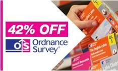 42% off Ordnance Survey maps at Dash4It (e.g. OS Explorer map £4.63 instead of £7.99) plus free delivery