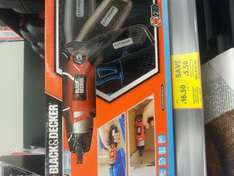 black and decker cordless electric screwdriver @ £16.50 instore at tesco