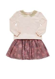 TESCO CLOTHING long sleeve top and tutu skirt set only £2 from £7 ages 0 months to 12 months £2 @ F&F clothing (Tesco)