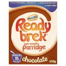 Weetabix Ready Brek Original orChocolate 450G Half Price £1.00 ( was £2.00) @ Tesco