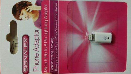 Micro USB to 8-Pin Lightning Adapter £1 @ PoundLand