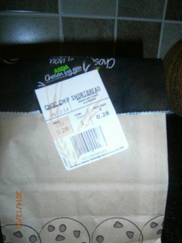 Four Choc Chip Shortbread 28p @ Asda