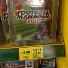 Football manager 15 pc £17 @ Tesco