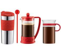 Bodum Coffee Gift Set (travel mug, glass mug, cafetiere, stirrer/spoon) instore and online £19.99 @ Currys