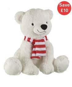 Cuddly polar bear and cuddly penguin BOGOF both for £9.99 instore and online at Mothercare