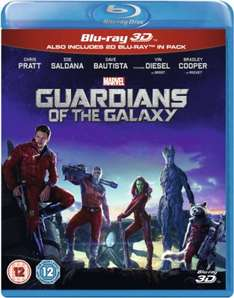 Guardians of the Galaxy 3D Blu Ray £15.30 with code delivered from Zavvi