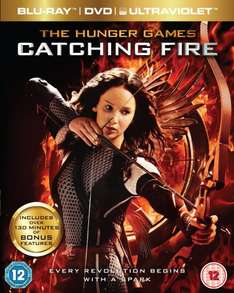 Hunger Games: Catching Fire - Triple Play [Blu-ray + DVD + UV Copy] £10 delivered from Amazon
