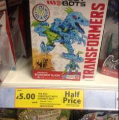 Half Price Transformer Construct Bots £5 in store at Tesco