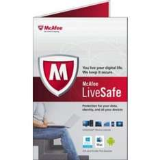 McAfee Live Safe [Unlimited Devices] - was £79.99 now £19.99 (1 year subscription) at Argos