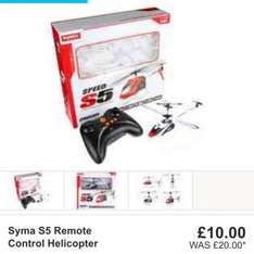 Syma s5 remote control helicopter £10 at Halfords click n collect