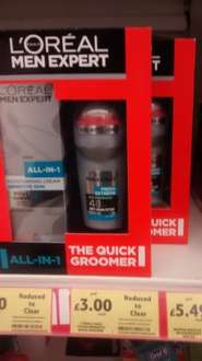 L'Oreal Men Expert  Quick Groomer gift set reduced to clear down from £8.99 now £3 @ Tesco