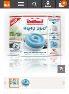 unibond aero 360 moisture absorber system refill @  b and q was £7.98 now £6.00