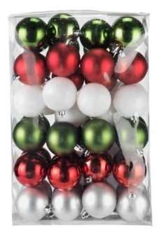 Pack of 48 Ho Ho Ho Christmas Baubles. - Argos £3.99