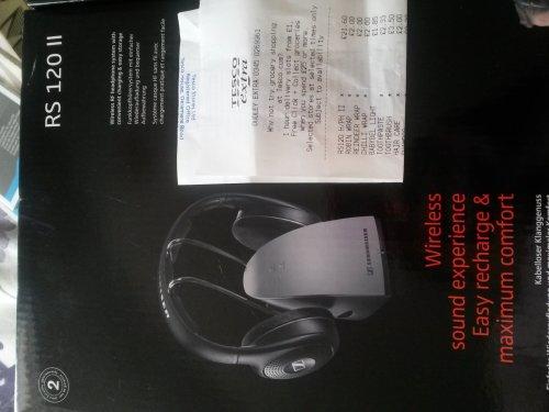 sennheiser rs120 wireless rechargable headphones was £100 now £21.80 @ Tesco instore