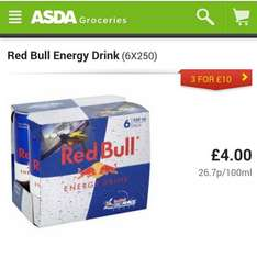 Red Bull Energy Drink - 6 for £4 (55p each) @ Asda