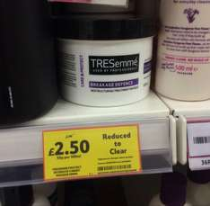Tresemme protect intensive treatment masque 500ML £2.50 @ Tesco RRP £5