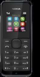 Nokia 105 Black/Blue £0.99 on o2 with £10 topup- Free Del @ e2save