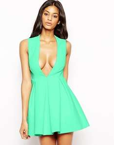 Upper Mini Dress with Plunge Neck was £150 now £45  delivered @ Asos