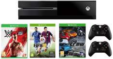 Xbox One Console Sports Pack (WWE 2K15, The Crew, Fifa 15 Download & Extra Contoller) *Lightning Deal* @ Amazon