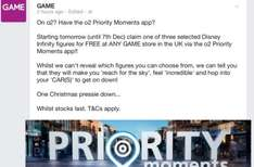 Disney Infinity figures free with O2 priority (from 4th dec 2014 - 7th Dec 2014)