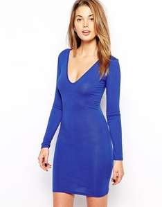 Club L Essentials Plunge Neck Bodycon Dress £8 plus £3 delivery from asos