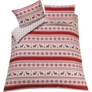 Nordic Reindeer bedding single now £9.99 at Argos