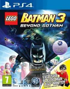 LEGO Batman 3: Beyond Gotham with Plastic Man LEGO Minifigure - Only at GAME (PS4/Xbox One) £24.99 Delivered @ Game (Instore Also) (PS3/X360/Wii U £22.49/Vita/3DS £19.99)