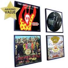 Black Record Album Frame - Can Be Personalised £2.99 at FindMeAGift (delivery  £3.95)