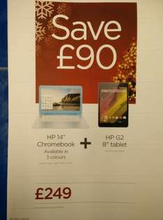 Asus or HP Chromebook and Asus or HP tablet for £249 at Curry's PC World