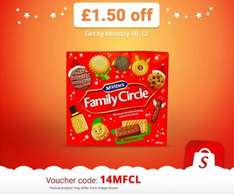 Enter 14MFCL into the Shopitize App for £1.50 off McVities Family Circle Biscuits (800g). £2 @ Tesco & Morrisons = 50p (potentially 29p)...