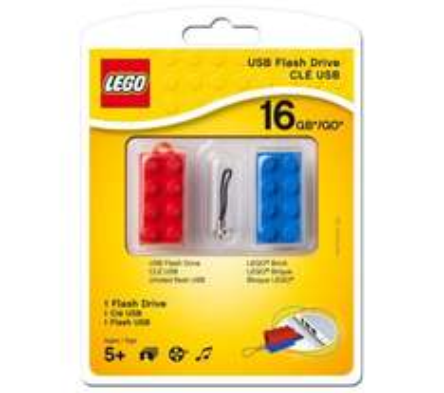 PC World Currys PNY16 GB Lego USB 2.0 Memory Stick - Red & Blue £9.99