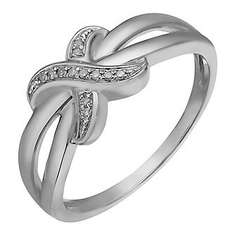 Sterling Silver & Diamond Crossover Kiss Ring for £24.99 when you spend £50 at H Samuel