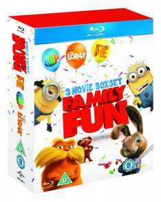 Dr Seuss' The Lorax / Despicable Me / Hop (Triple Pack) Blu-ray £8.68 (Free Del £10 order / Prime) @ Eagle DVD Fulfilled by Amazon