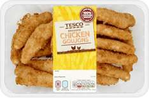 Breaded Chicken (63% Breast) Goujons (540g) was £4.00 now £2.00 @ Tesco