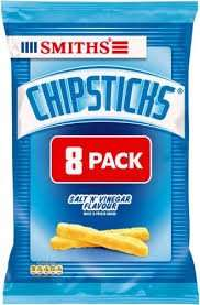 Walkers Chipsticks Salt & Vinegar Snacks 8 Pack £1.00 @ tesco