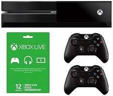 *Expired* Xbox One Console Ultimate Essentials Pack (12 Months Xbox Live Gold Membership, Extra Controller) *Lightning Deal* @ Amazon £319.90