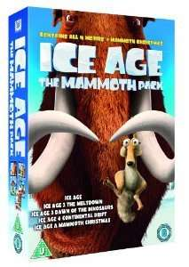 Ice Age 1 - 4 plus A Mammoth Christmas (5 DVD boxset) £6.30 @ Amazon (free delivery £10 spend/prime)